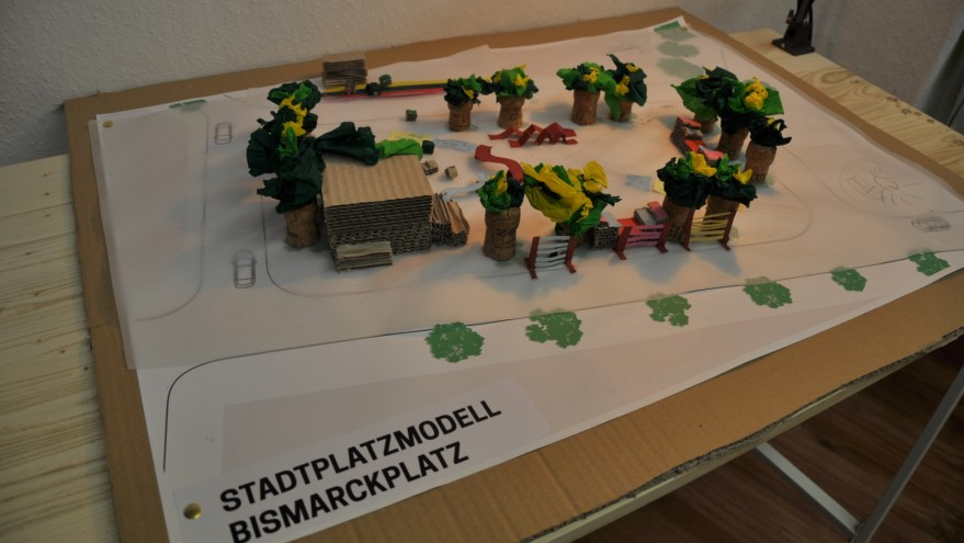Modell des Bismarckplatzes in Wittenberge